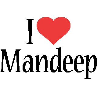 Mandeep i-love logo