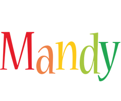Mandy birthday logo