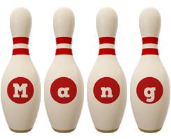 Mang bowling-pin logo