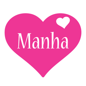 Manha love-heart logo