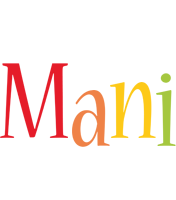 Mani birthday logo