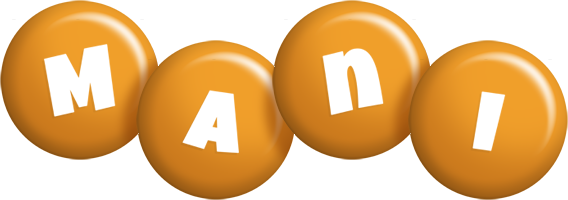 Mani candy-orange logo