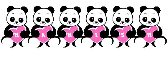 Manish love-panda logo