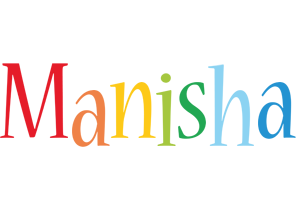 Manisha birthday logo