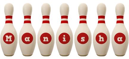 Manisha bowling-pin logo