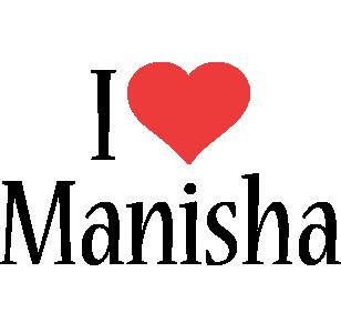 Manisha i-love logo