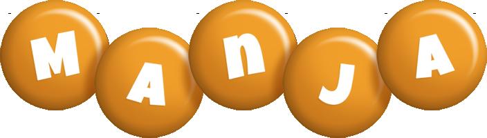 Manja candy-orange logo
