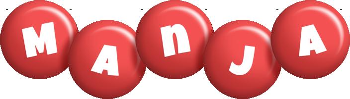 Manja candy-red logo