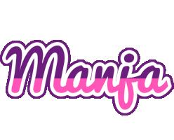 Manja cheerful logo