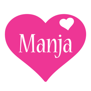 Manja love-heart logo