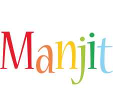 Manjit birthday logo