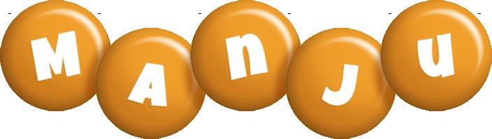 Manju candy-orange logo