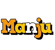 Manju cartoon logo