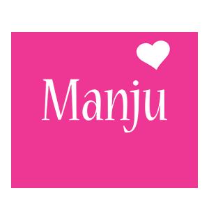 Manju love-heart logo