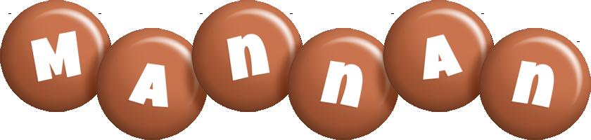 Mannan candy-brown logo