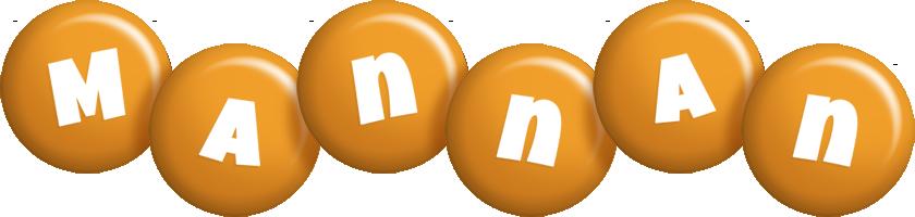 Mannan candy-orange logo