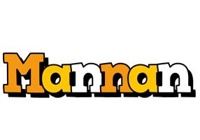 Mannan cartoon logo