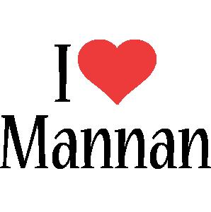 Mannan i-love logo