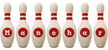 Manohar bowling-pin logo