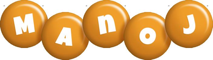 Manoj candy-orange logo