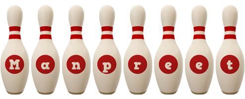 Manpreet bowling-pin logo