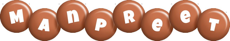 Manpreet candy-brown logo