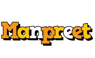 Manpreet cartoon logo