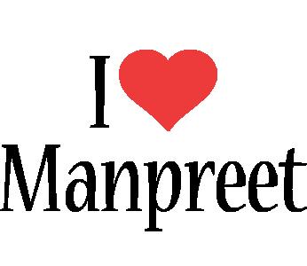 Manpreet i-love logo