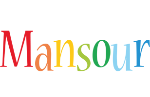 Mansour birthday logo