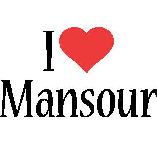 Mansour i-love logo
