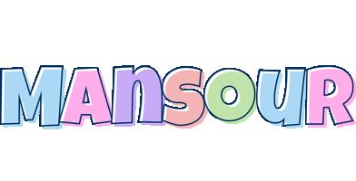 Mansour pastel logo