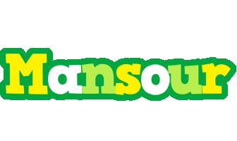 Mansour soccer logo