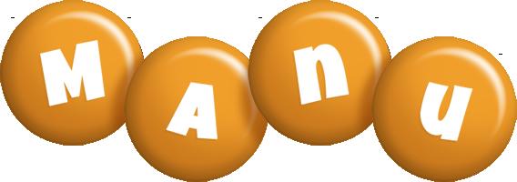Manu candy-orange logo