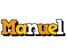 Manuel cartoon logo