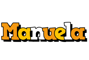 Manuela cartoon logo