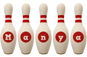 Manya bowling-pin logo