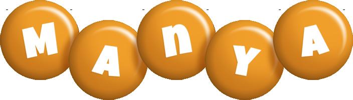 Manya candy-orange logo