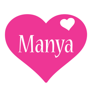 Manya love-heart logo