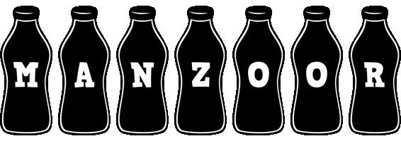 Manzoor bottle logo