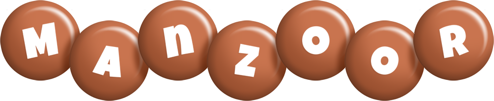 Manzoor candy-brown logo