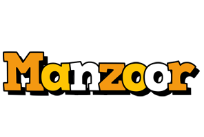 Manzoor cartoon logo