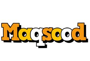 Maqsood cartoon logo