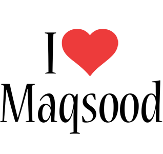 Maqsood i-love logo