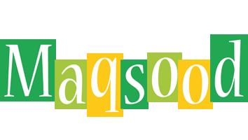 Maqsood lemonade logo
