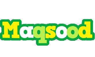 Maqsood soccer logo
