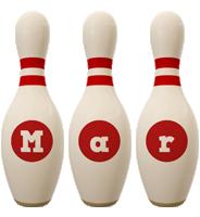 Mar bowling-pin logo