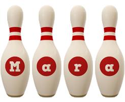 Mara bowling-pin logo