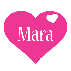Mara love-heart logo