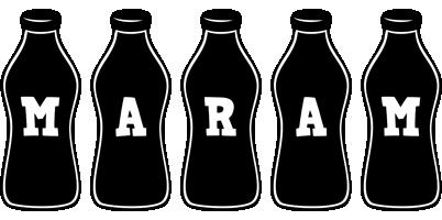 Maram bottle logo