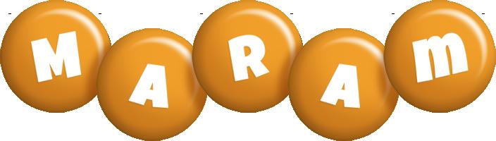 Maram candy-orange logo